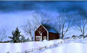 Blue Serenity-Watercolor